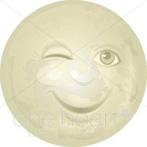 Smiling full moon clipart clipartfest.
