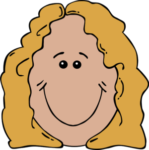 Smiling Girl Bestfriend Face Clipart.