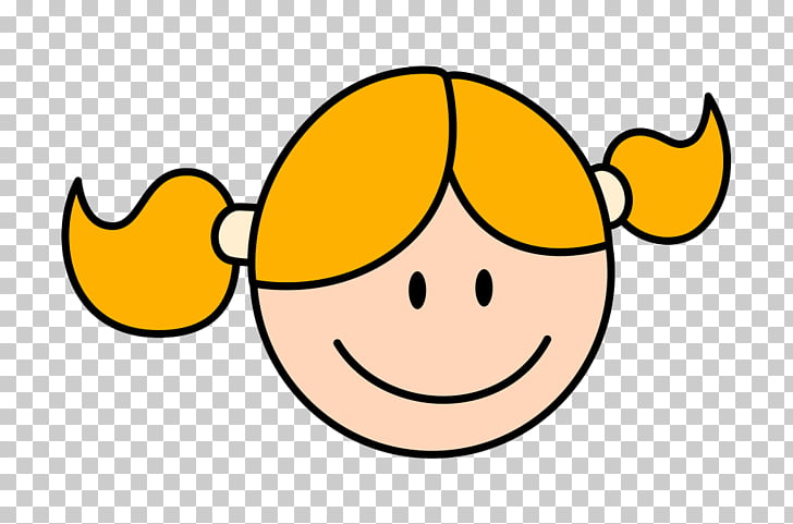 Smiley Cartoon , Girl smiling face PNG clipart.