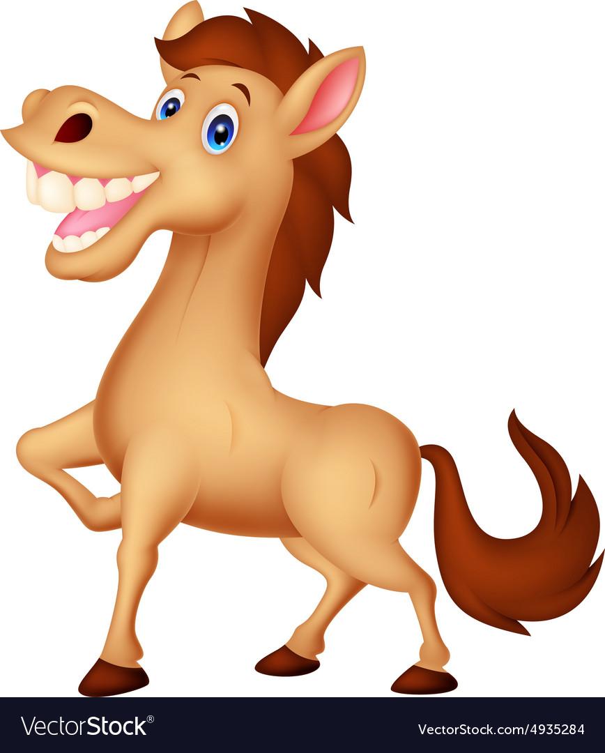 Happy horse cartoon.