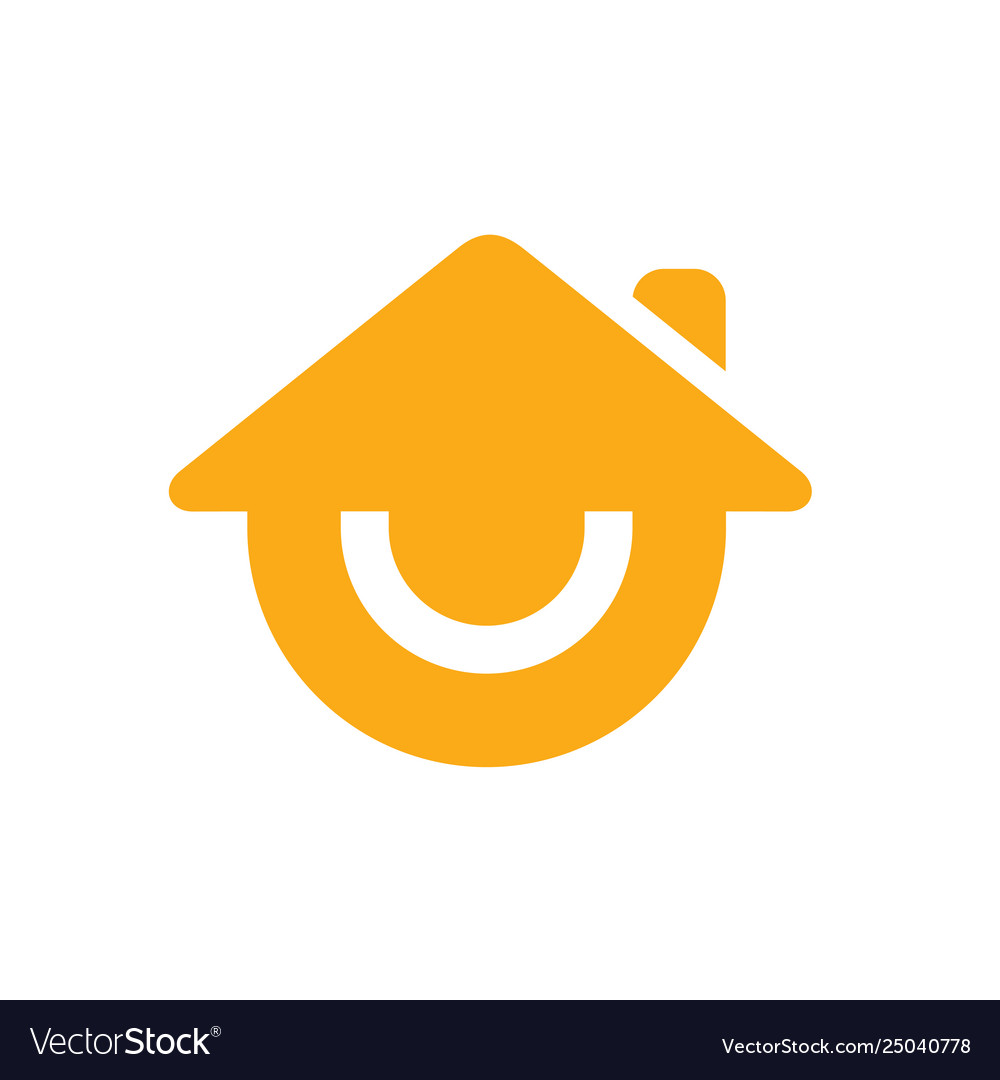 Smile house or smiling home logo icon.