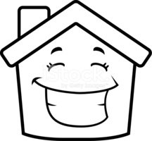 House Smiling Stock Vector.