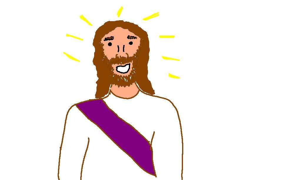 Smiling Jesus clipart free image.