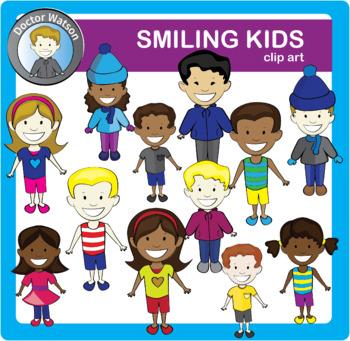 Smiling Kids Clipart Bundle.