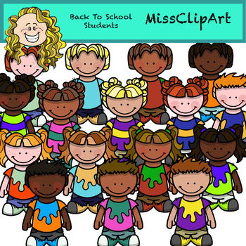 Clipart KIDS (Color and B&W) {MissClipArt}.