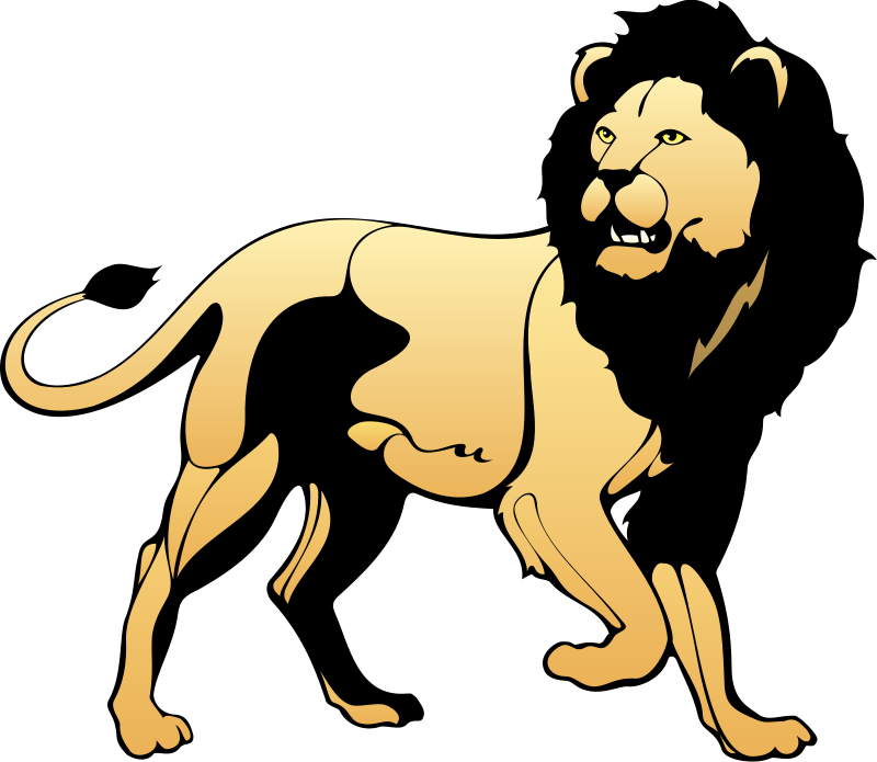 Smile Cartoon Lions Clipart.