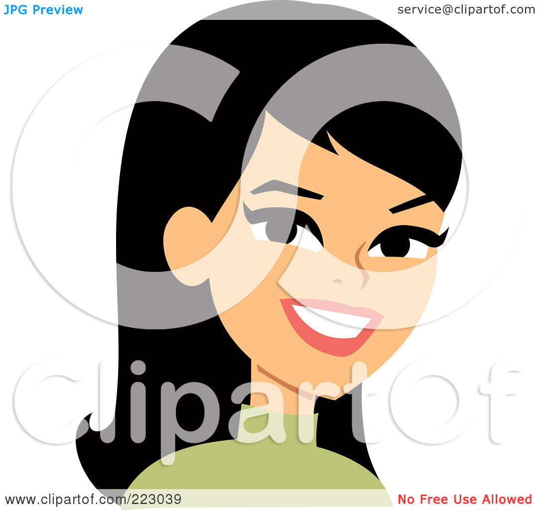 Smiling Woman Clipart.