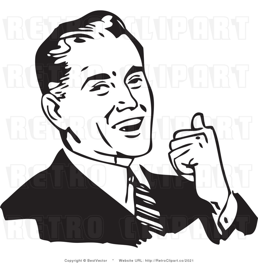 Smiling man clipart.