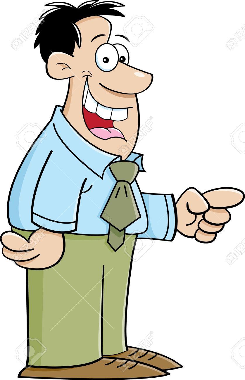 Showing post & media for Cartoon smiling man clip art.