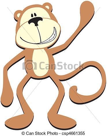 smiling monkey greeting.