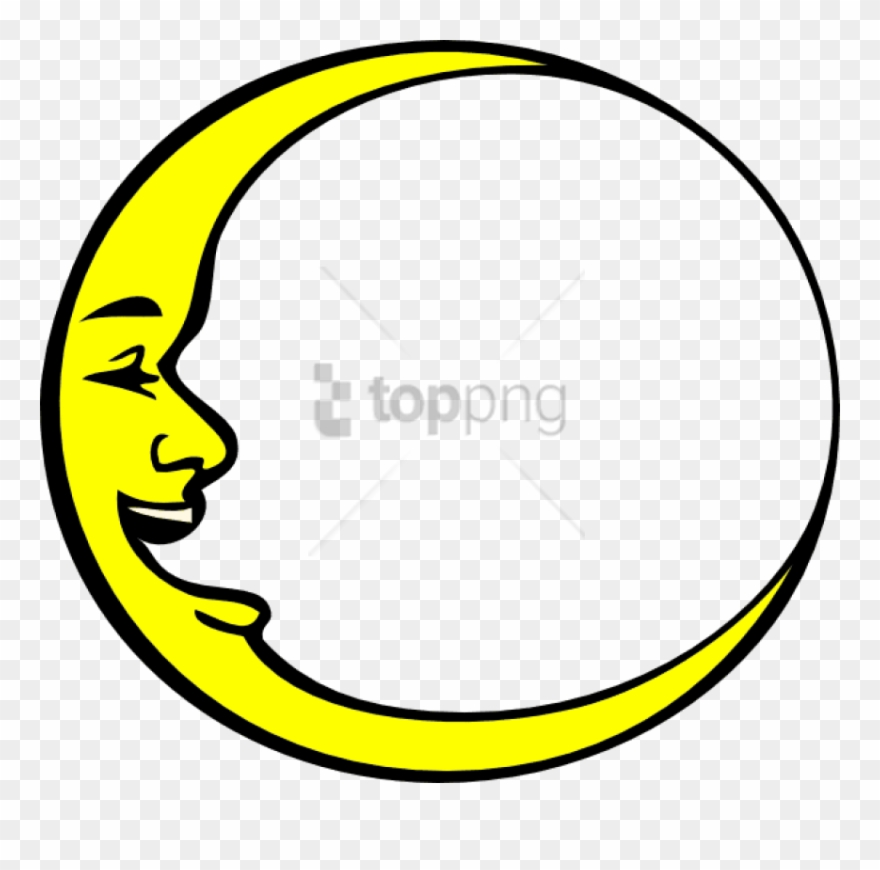 Free Png Smiling Crescent Moon Png Image With Transparent.
