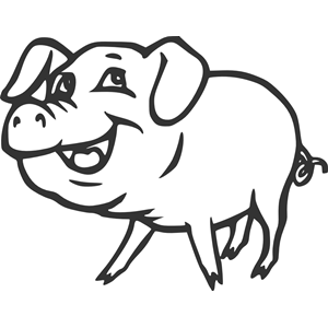 Smiling Pig clipart, cliparts of Smiling Pig free download.
