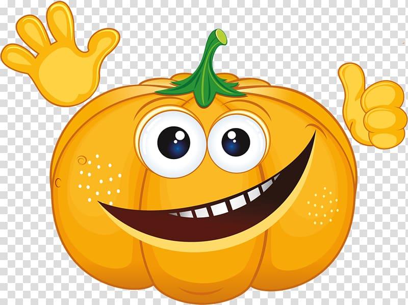 Pumpkin Smile, Smiling Pumpkin transparent background PNG.
