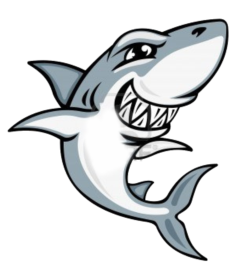 Smiling shark clipart free image.