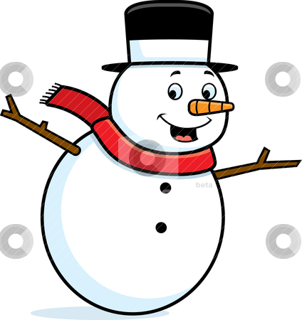 Snowman Smiling stock vector.