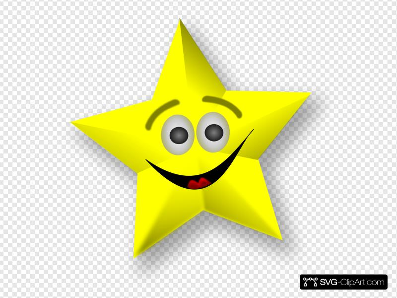 Smiling Star Clip art, Icon and SVG.
