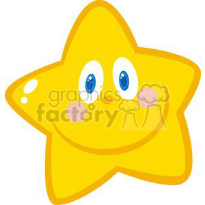 yellow smiling star clipart. Royalty.