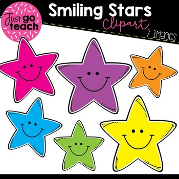 Smiling Stars {Clipart}.