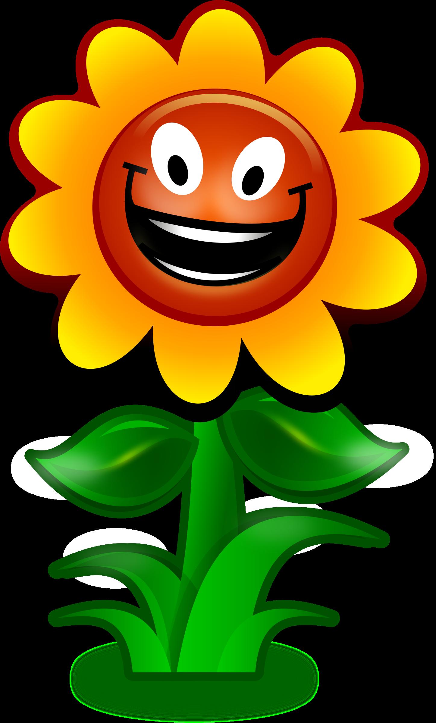 Smiley face clip art flower, Smiley face clip art flower.