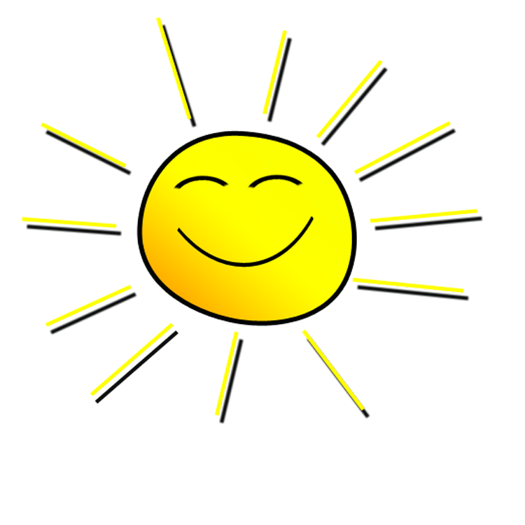 Smiling Sunshine Clipart.