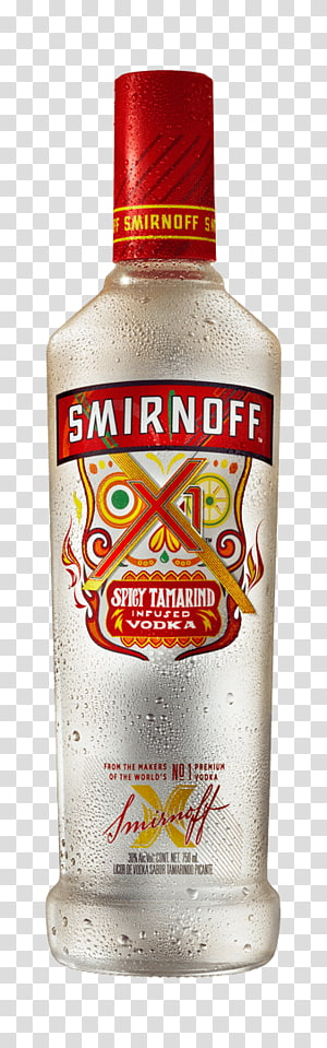 Liqueur Vodka Glass bottle Smirnoff, vodka transparent.