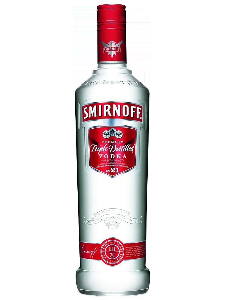 Vodka Smirnoff Bottle PNG Image.