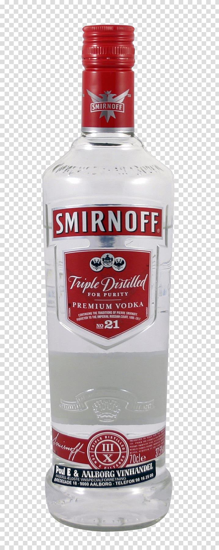 Smirnoff glass bottle, Vodka Distilled beverage Cocktail.