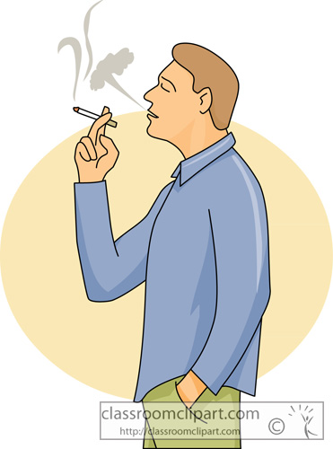 People smoking clipart.