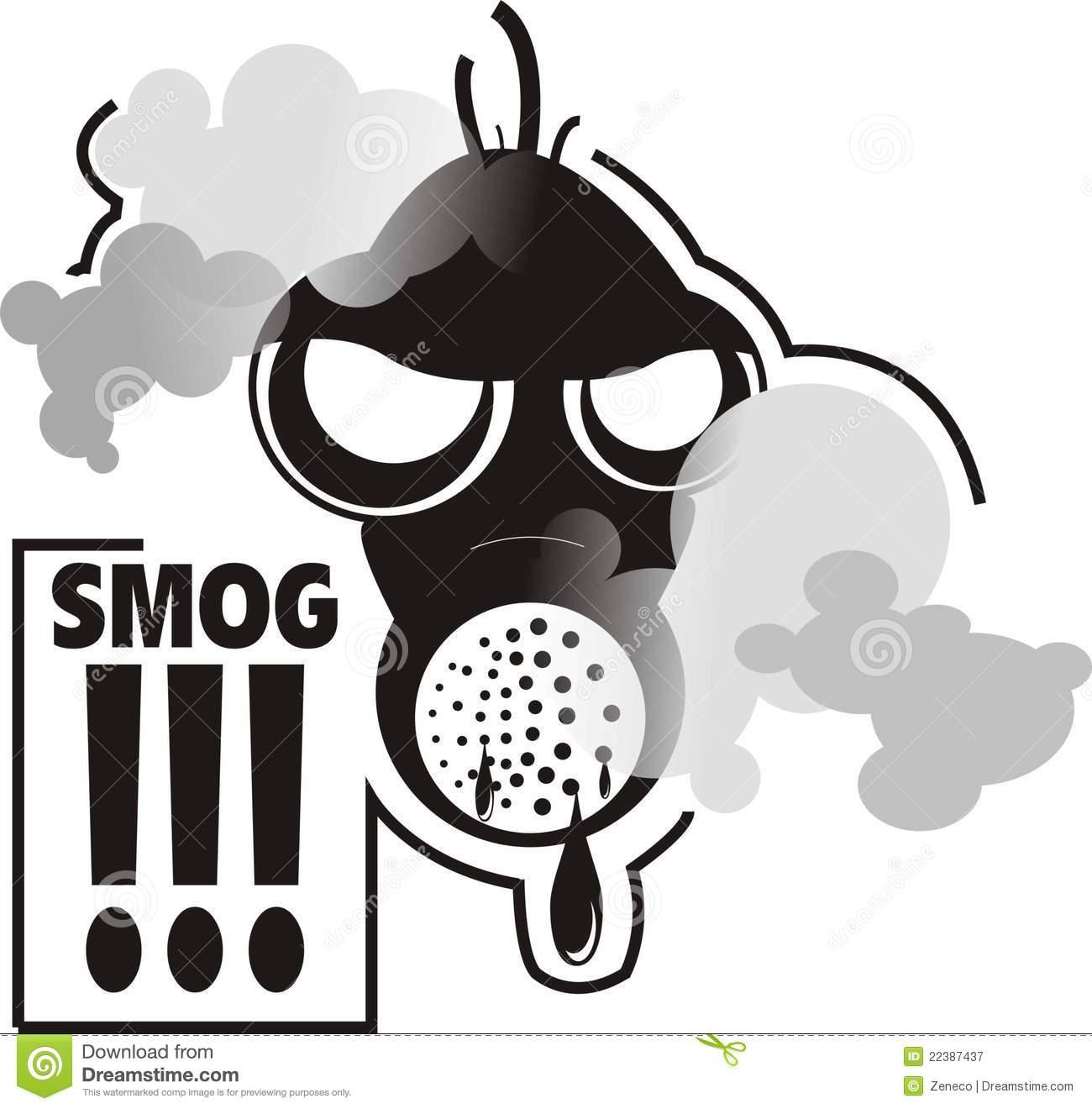Smog Mask Stock Illustrations.