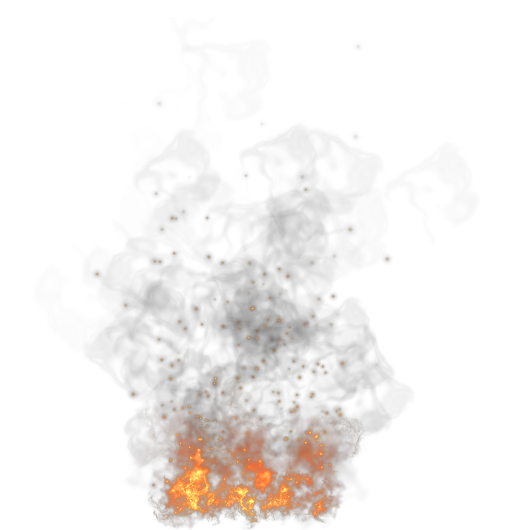 Transparent Fire and Smoke PNG Picture.