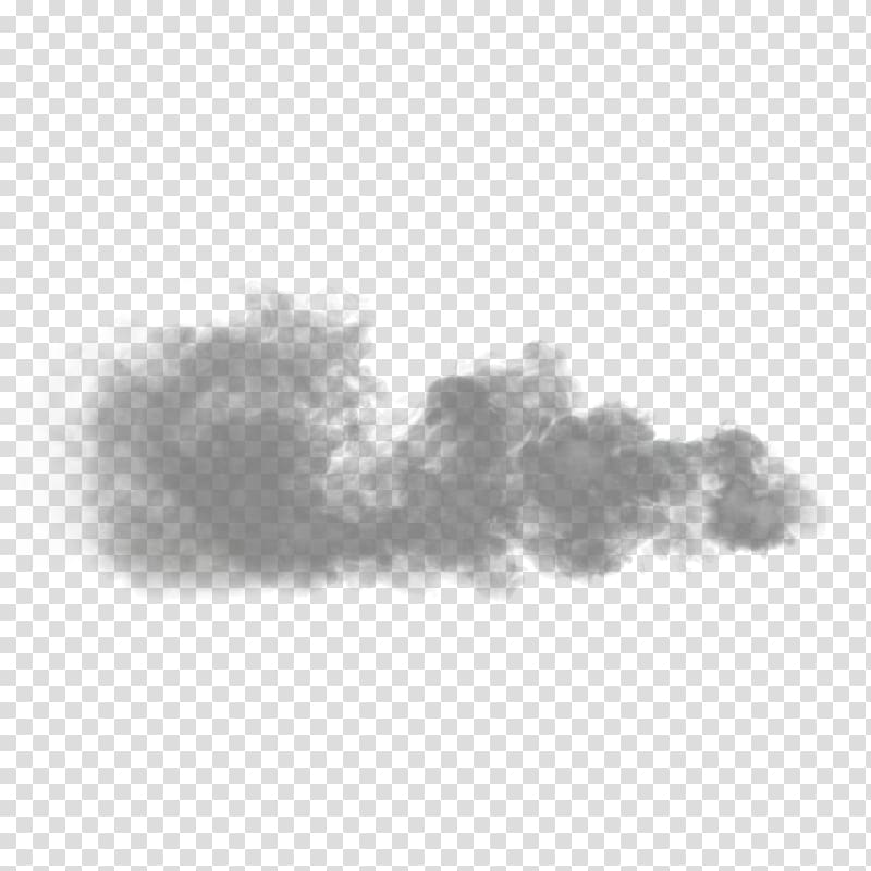 Cloud Light Black and white Haze Smoke, Cloud transparent.