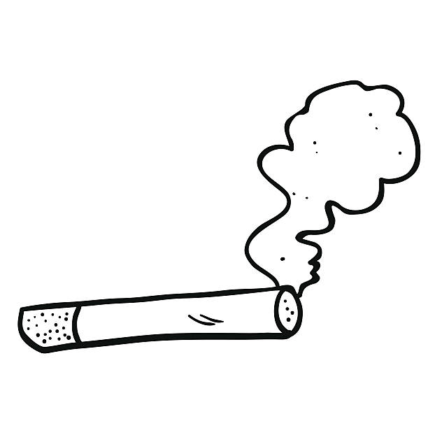 Smoke clipart black and white.