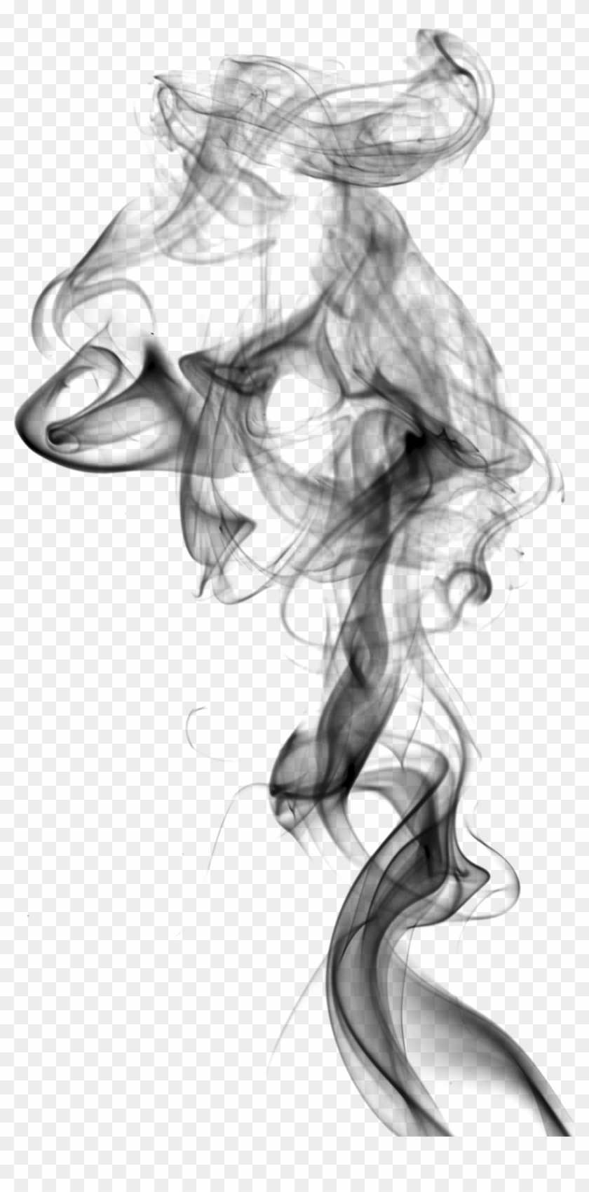 Drawing Smoking White Smoke.