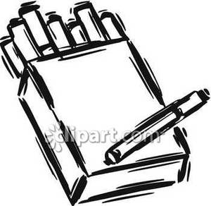 A Sketch of a Pack of Cigarettes Royalty Free Clipart Picture.