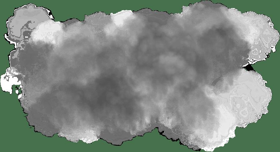 Grey Smoke Cloud transparent PNG.