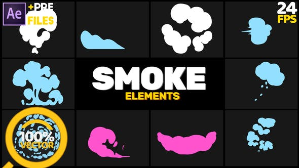 Smoke Elements // After Effects by People_motion.