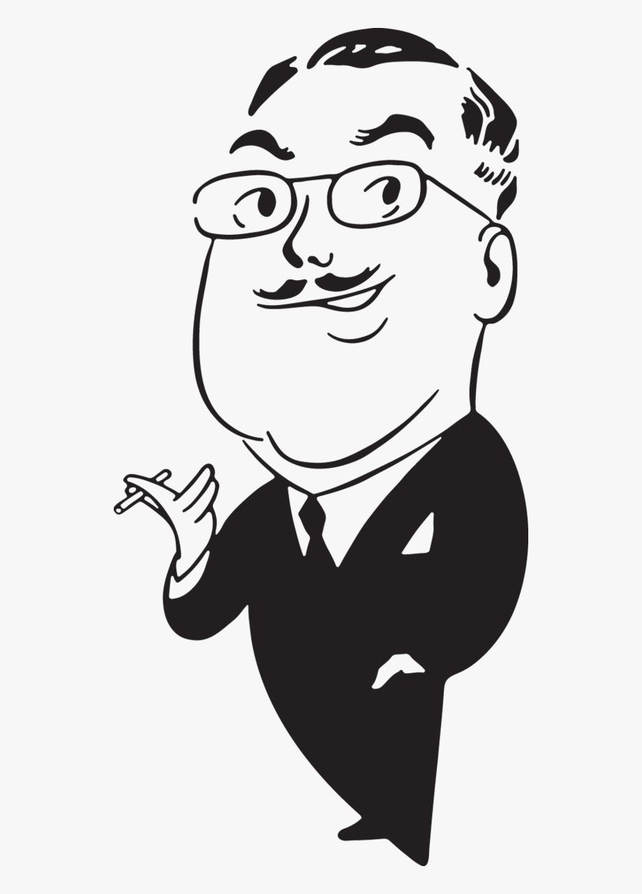 626 Cartoon Man Smoking.