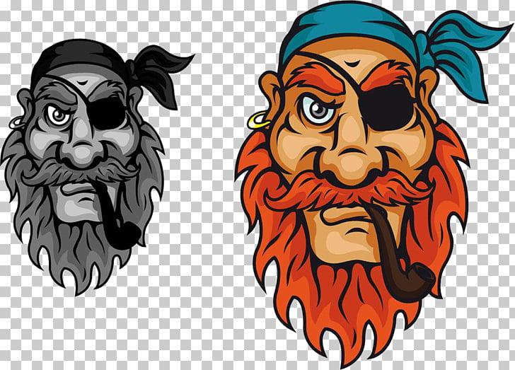 Piracy Illustration, Smoke pirate PNG clipart.