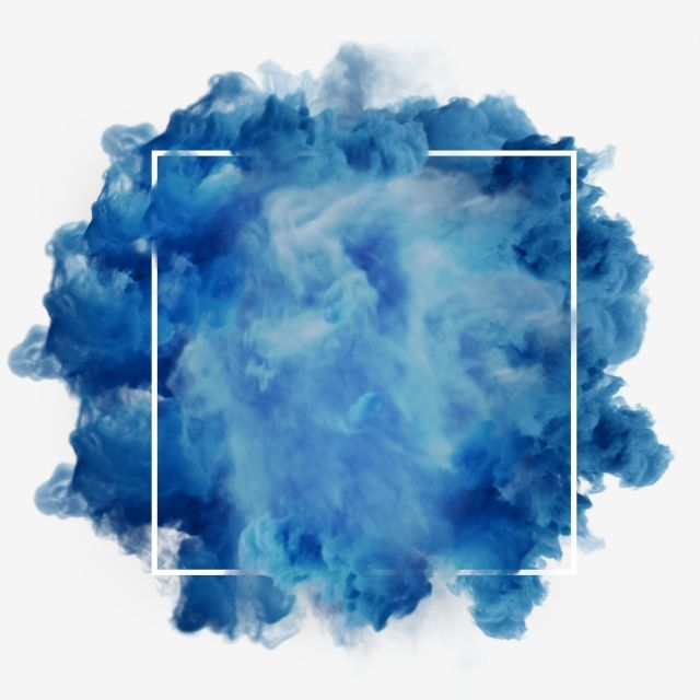 Blue Smoke Abstract Frame, Meteorological Phenomenon.