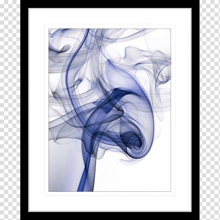 Modern art Watercolor painting Visual arts, smoke frame.