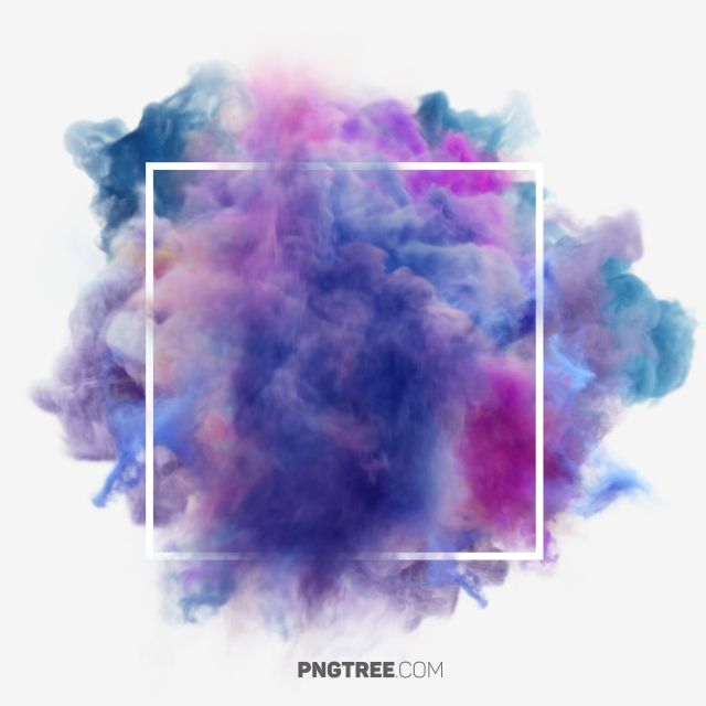 Colorful Smoke, Pastel, Square PNG Transparent Clipart Image.