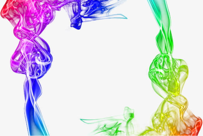 Border color smoke PNG clipart.