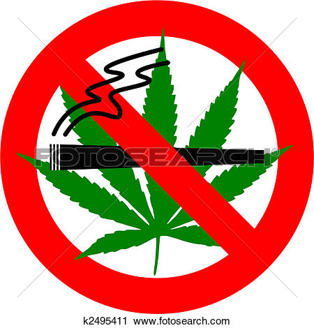 Clip Art of Sign forbidden circle drug cannabis k13102626.