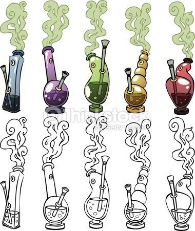 Bongs Vector Art.