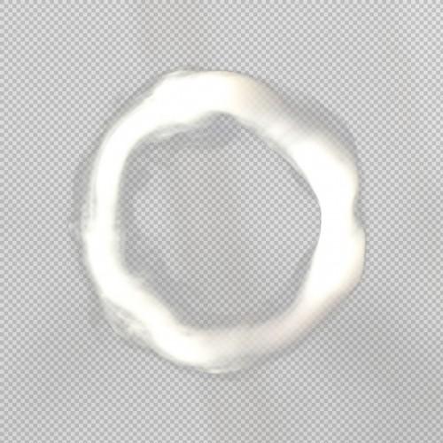 Cigarette Smoke Circle Transparent png.