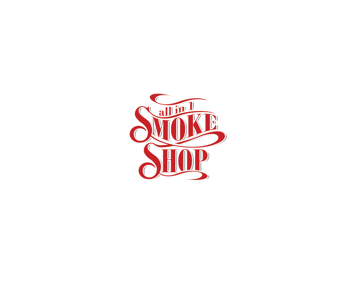 Bold, Playful, Shop Logo Design for All in 1 Smoke shop OR.