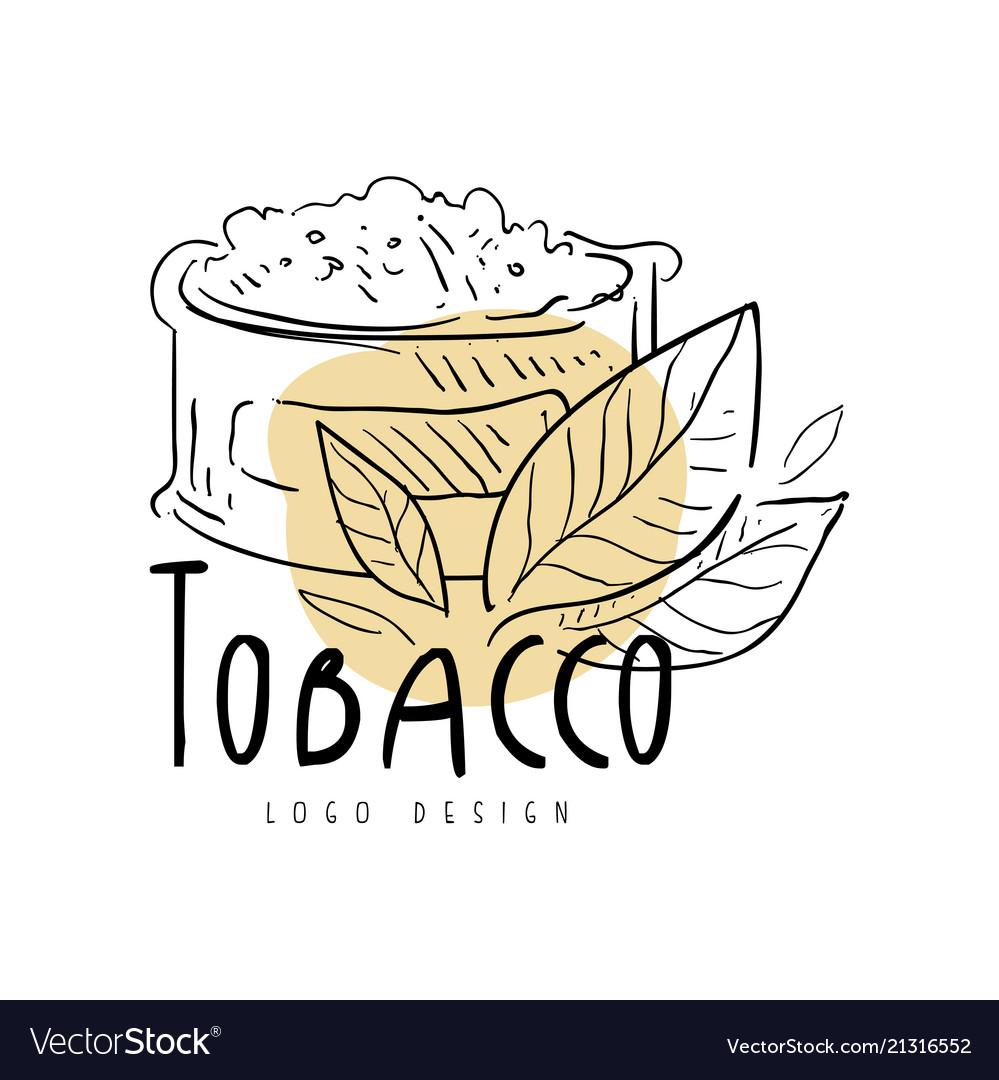 Tobacco logo design emblem for smoke shop.