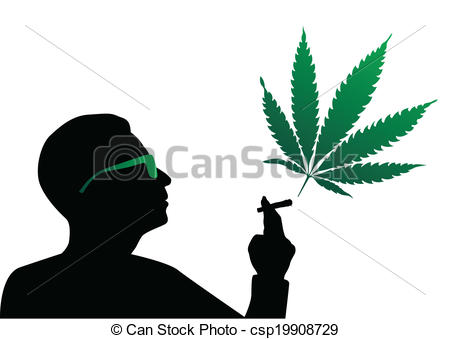 Smoking weed clipart.