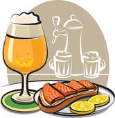 Stock Illustration of Smoked Salmon Platter x75494395.