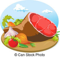 Smoked ham Vector Clip Art Illustrations. 329 Smoked ham clipart.